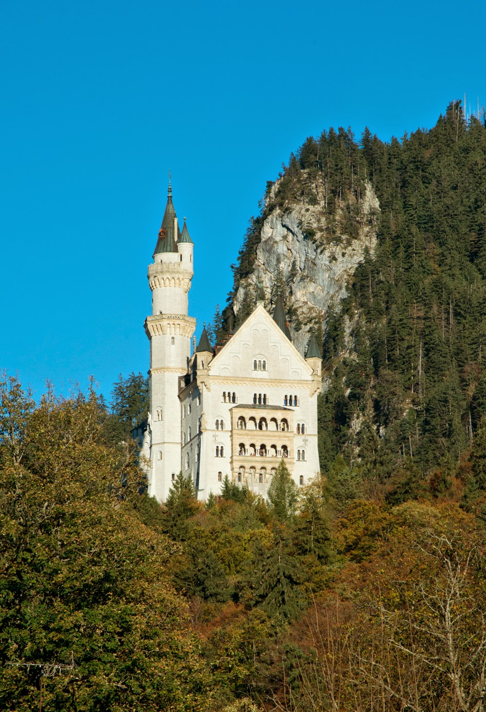 """Mad"" King Ludwig II's Neuschwanstein Castle in the Bavarian Alps, Germany"