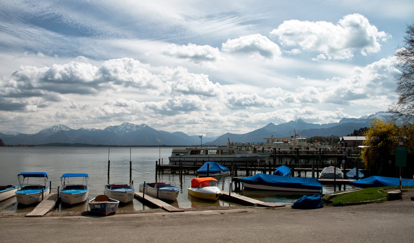 Lake Chiemsee, Bavaria, Germany, and King Ludwig's Herrenchiemsee Palace