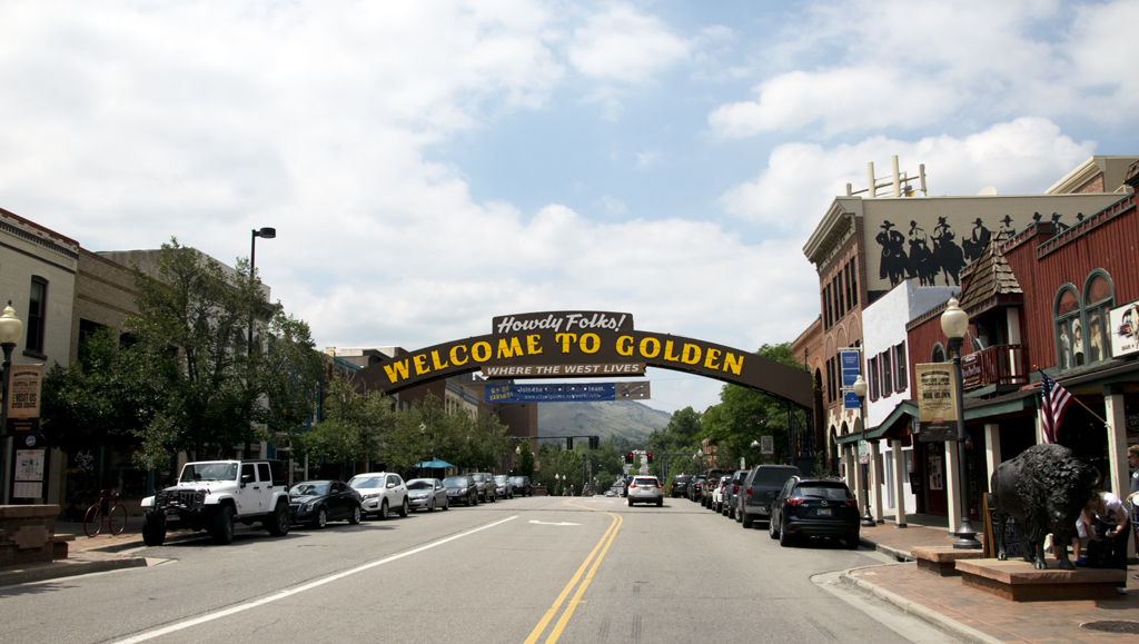 City of Golden, Colorado, at the Base of the Front Range of the Rocky Mountains