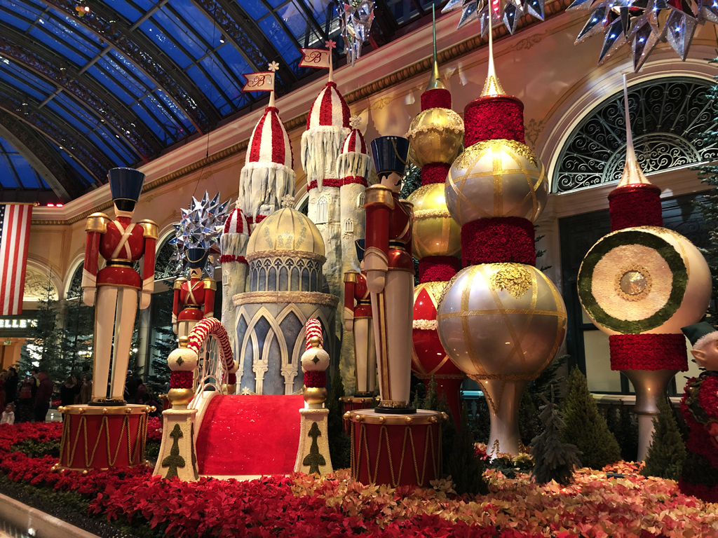 Bellagio Christmas Decorations In Fabulous Las Vegas Nevada A
