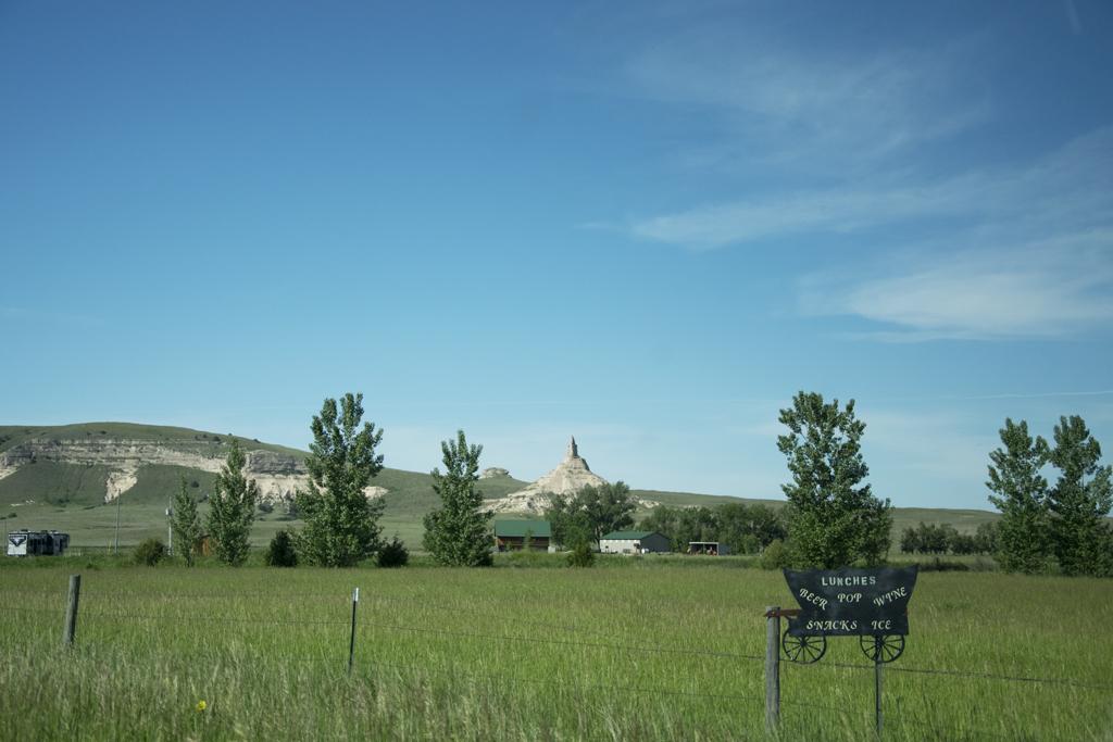 Chimney Rock National Monument near Scotts Bluff, Nebraska